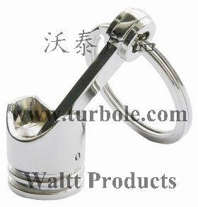 Polished Chrome,Creative Hot Engine Piston Keychain KeyChain Ring KeyFob Keyring