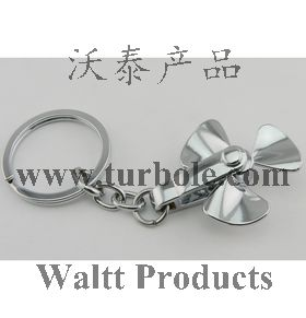 Spinning Impellers Keychain, Keyring