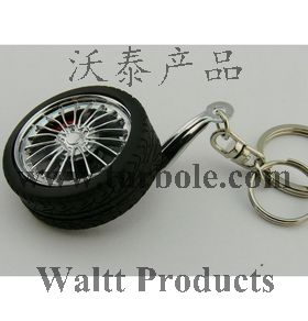 Spinning Type Keychain With Disc Brake